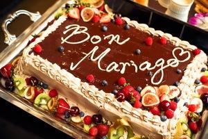 ベルギーならではのチョコレートウエディングケーキ
