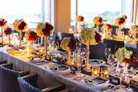 「フルコース会食プラン」テーブル装飾一例