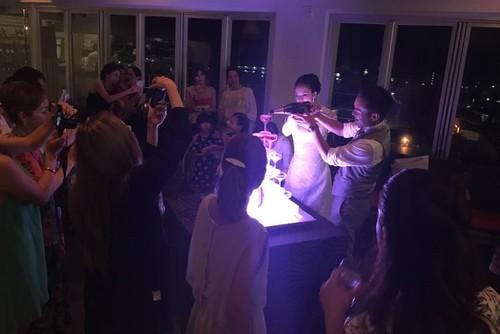 シャンパンタワーでパーティーも盛り上がります!