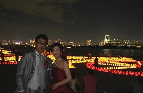 夜景のレインボーブリッジも素敵に