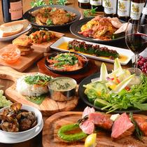 厳選和牛や直送鮮魚、季節野菜を使った多彩な料理をお届けします