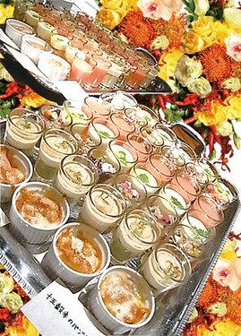 カウンターにずらりと並ぶお料理!本格イタリアンを楽しんで!