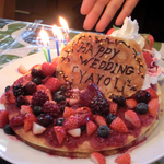 Happy Wedding Pancake