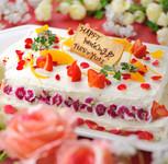 ネーム入りの入刀用ケーキサプライズプレゼント♪